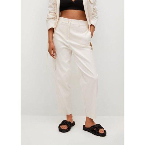 Pantalon cargo lin - Mango - Modalova