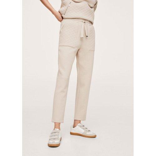 Pantalon coton texturé - Mango - Modalova