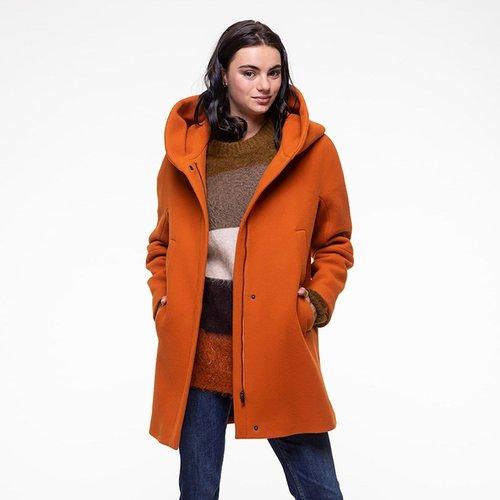 Manteau en drap de laine à capuche BERNING - TRENCH AND COAT - Modalova