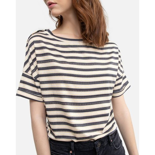 Tee shirt rayé col rond manches courtes - SESSUN - Modalova