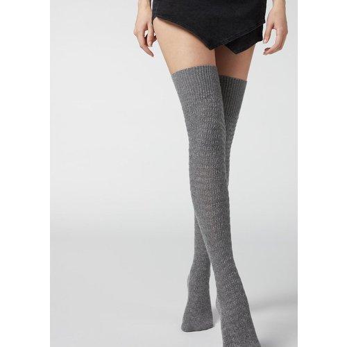 Chaussettes hautes à motifs ajourés - CALZEDONIA - Modalova