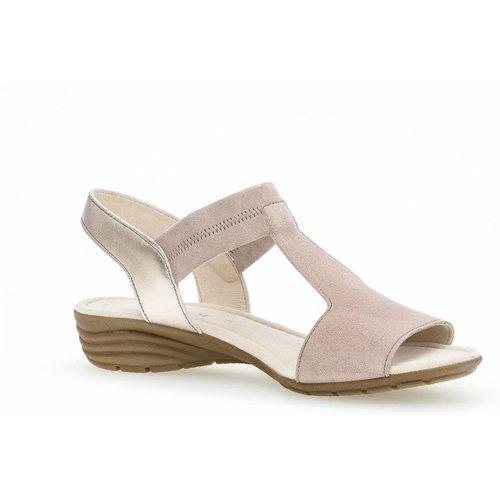 Sandales suede talon compensé - Gabor - Modalova