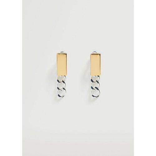 Boucles d'oreilles pendantes chaînes - Mango - Modalova