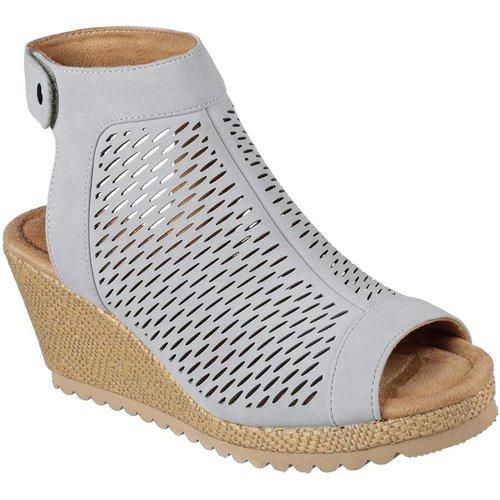 Sandale espadrille à talon compensé - Skechers - Modalova