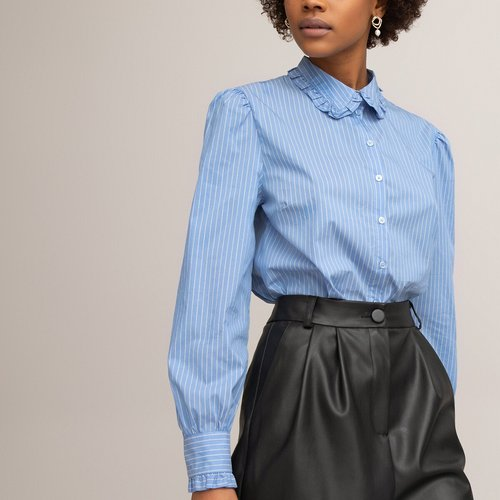 Chemise col claudine manches longues rayée - LA REDOUTE COLLECTIONS - Modalova