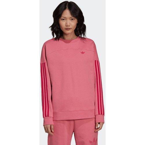 Sweat-shirt with a Sporty Cut Line and Colored Stripes - adidas Originals - Modalova