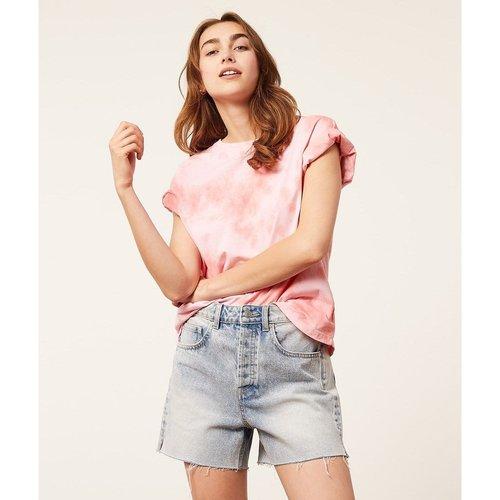 T-shirt col rond manches courtes PINK KISS - ETAM - Modalova