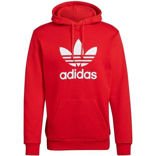 Sweat à capuche avec gros logo trefoil devant - adidas Originals - Modalova