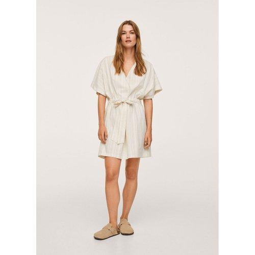 Robe coton noeud - Mango - Modalova