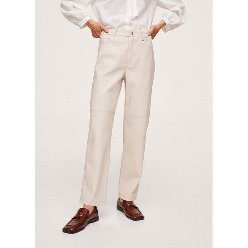 Pantalon droit similicuir - Mango - Modalova