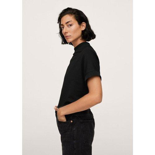 T-shirt à bords côtelés - Mango - Modalova