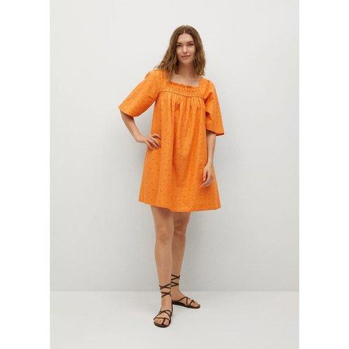 Robe texturée en coton - Mango - Modalova