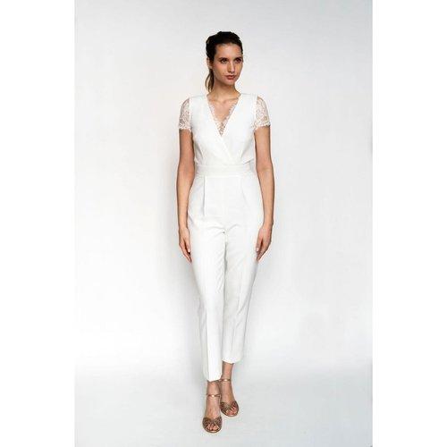 Combinaison pantalon de mariée, made in France - HARPE - Modalova
