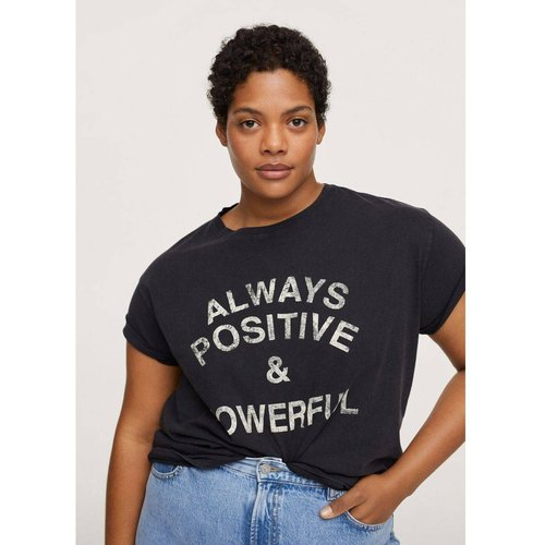 T-shirt coton messages - Mango - Modalova