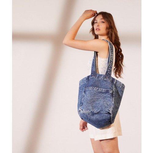 Tote bag en jean avec poche DENIM - ETAM - Modalova