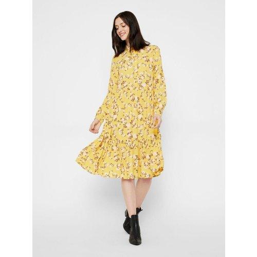 Robe-chemise Imprimé fleuri - Pieces - Modalova
