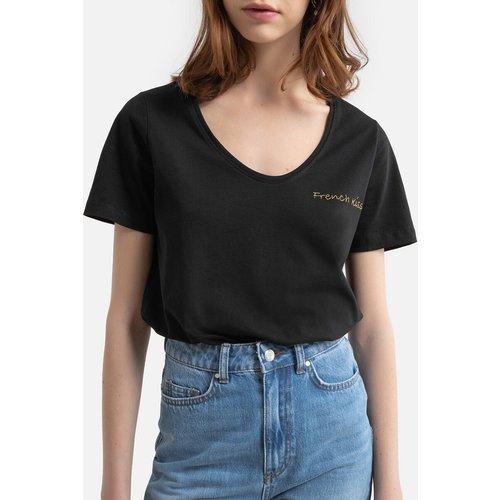 T-shirt manches courtes, message devant - Pieces - Modalova