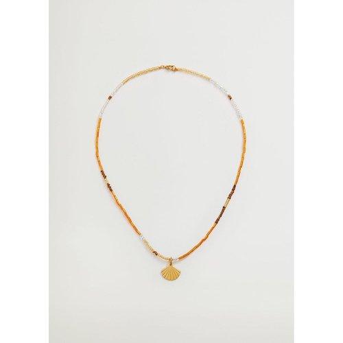 Collier pendentifs perles - Mango - Modalova