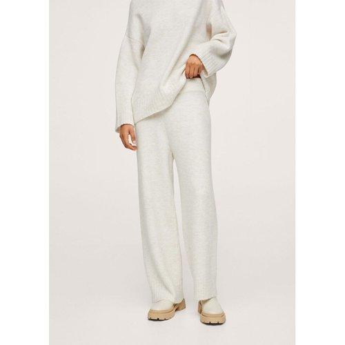 Pantalon jaspé maille - Mango - Modalova