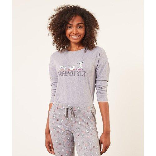 Haut de pyjama T-shirt manches longues YASH - ETAM - Modalova