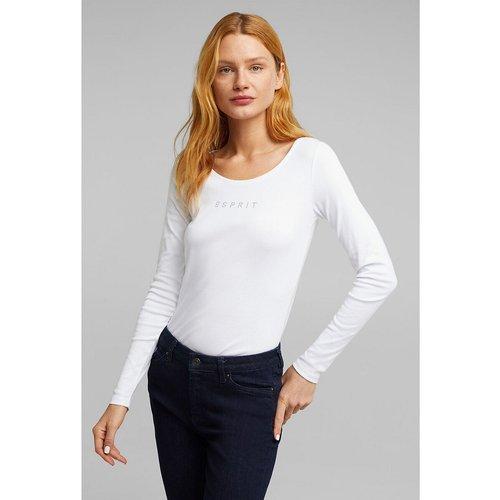 T-shirt manches longues col rond - Esprit - Modalova