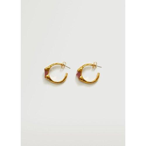 Boucles d'oreilles asymétriques cristal - Mango - Modalova