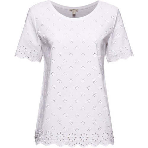 T-shirt col rond manches courtes - Esprit - Modalova
