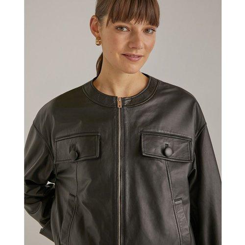 Blouson biker cuir - WOMAN EL CORTE INGLES - Modalova