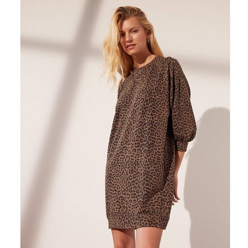 Robe sweat léopard LEO - ETAM - Modalova