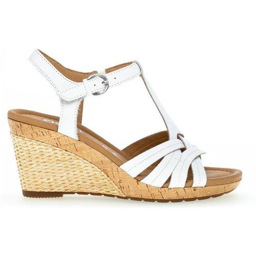Sandales cuir talon recouvert - Gabor - Modalova