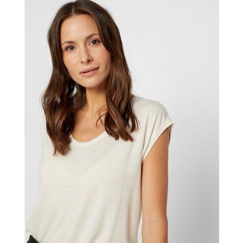 T-shirt effet brillant - Pieces - Modalova