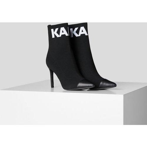 Bottines Pandora Hi à tige en maille - Karl Lagerfeld - Modalova