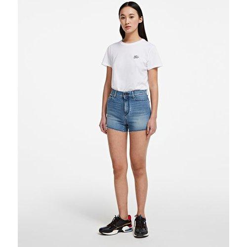 Short en jean vintage - Karl Lagerfeld - Modalova