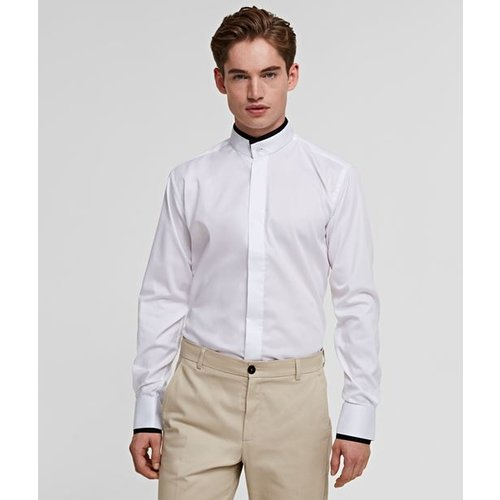 Chemise à col Mao - Karl Lagerfeld - Modalova