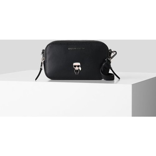 SAC À BANDOULIÈRE AVEC PIN'S MÉTALLIQUE K/IKONIK - Karl Lagerfeld - Modalova
