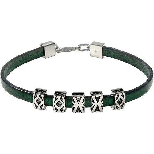 Bracelet Y2119B/90/00/21 925 Argent rhodié, Cuir - BALDESSARINI - Modalova
