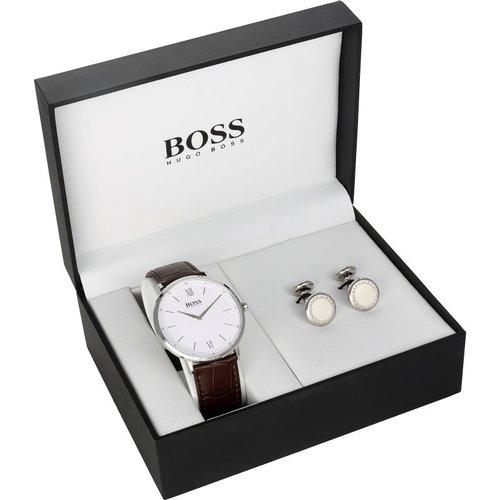 HUGO BOSS Hugo Boss Essential Cufflink Box Set Herrenuhr in Braun 1570069