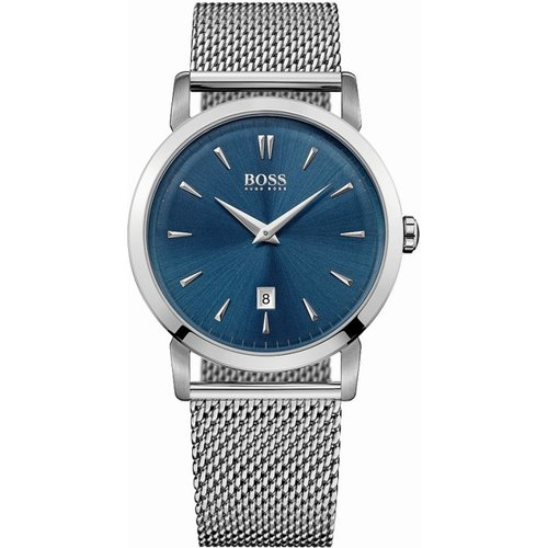 HUGO BOSS Hugo Boss Slim Ultra Slim Ultra Round Herrenuhr in Silber 1513273