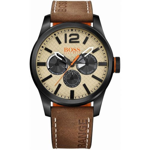 HUGO BOSS Hugo Boss Orange Paris Paris Herrenuhr in Braun 1513237