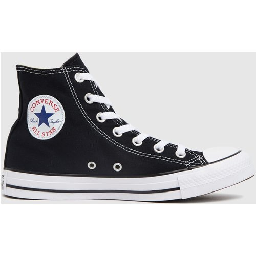 Save £10.00 - Converse Black & White All Star Hi Trainers