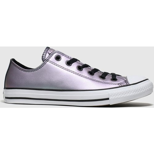 Save 58% - Converse Purple All Star Ox Iridescent Trainers