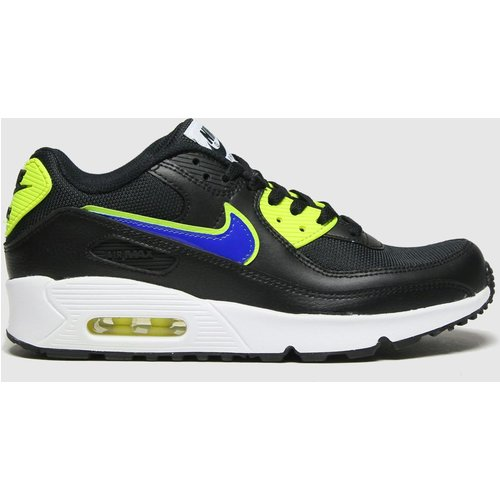 HALF PRICE! Nike Black & Green Air Max 90 Mesh Trainers Youth