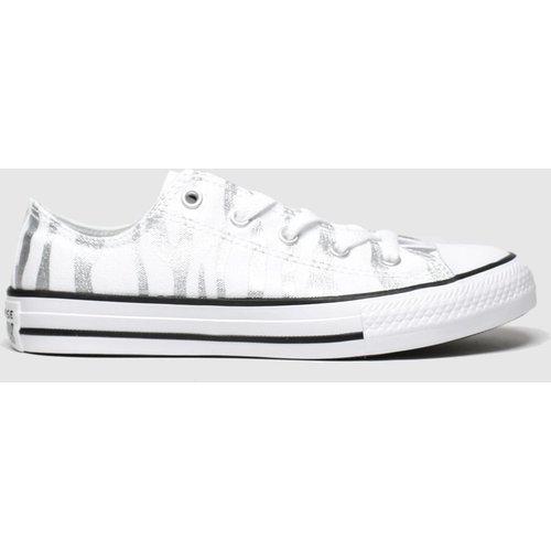 Save 34% - Converse White & Silver All Star Zebra Lo Trainers Junior