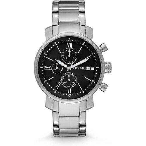 Unisex Montre Rhett Chronographe En Acier Inoxydable / - One size - Fossil - Modalova