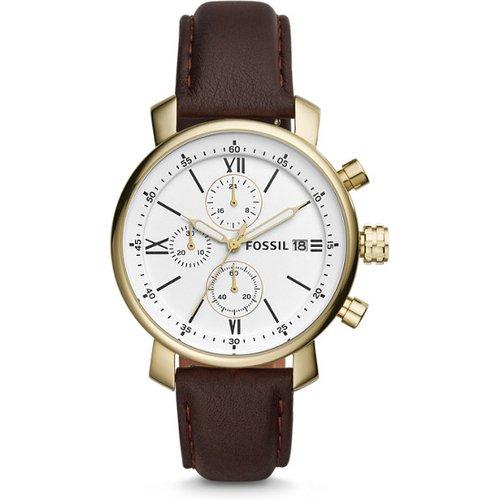 Unisex Montre Rhett Chronographe En Cuir - One size - Fossil - Modalova