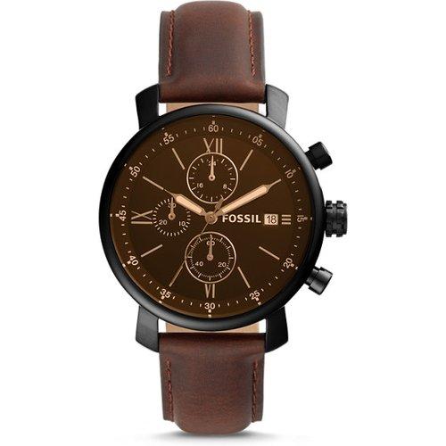 Unisex Montre Rhett Chronographe En Cuir Brun - One size - Fossil - Modalova