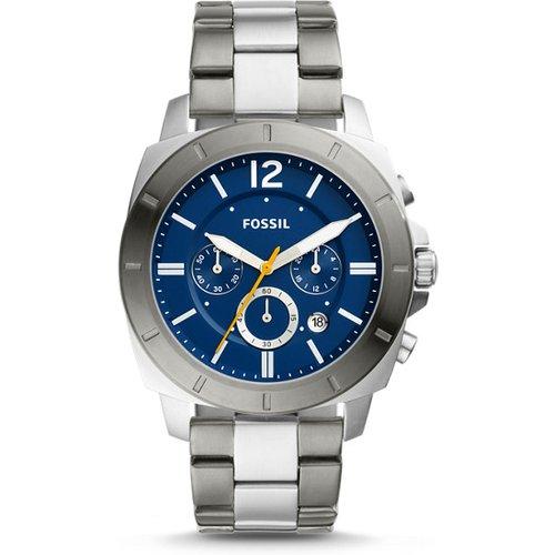 Unisex Montre Privateer Sport Chronographe En Acier Inoxydable Bicolore - One size - Fossil - Modalova