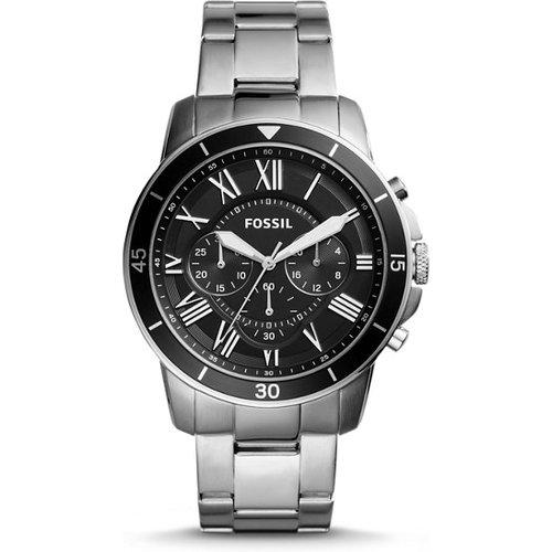 Unisex Montre Grant Sport Chronographe En Acier Inoxydable / - One size - Fossil - Modalova