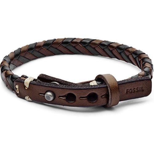 Men Bracelet En Cuir Tressé - One size - Fossil - Modalova