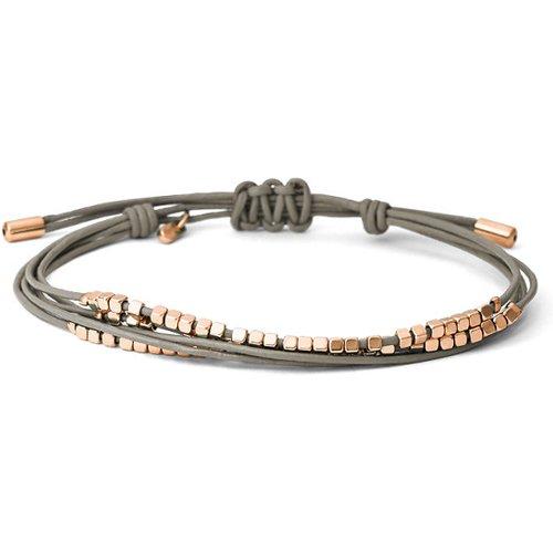 Unisex Bracelet Multi-Tours Perlé - Gris - One size - Fossil - Modalova